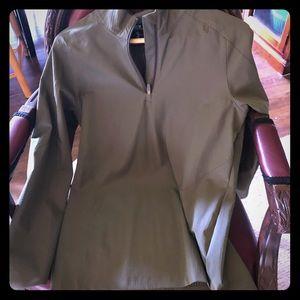 Under Armour olive green 1/4 zip pullover - medium